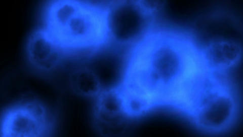 Blue blobs Animation