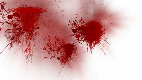 Blood splatters Animation
