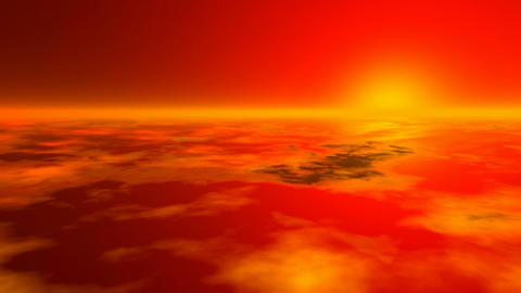 Sunset earth atmosphere Stock Video Footage