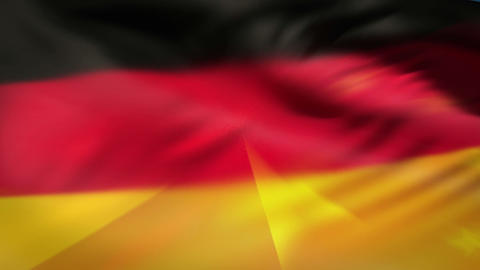 China and German nationals flags in the wind Animation