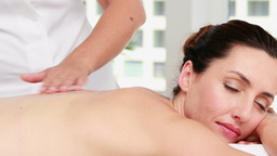 woman getting an aromatherapy treatment Footage