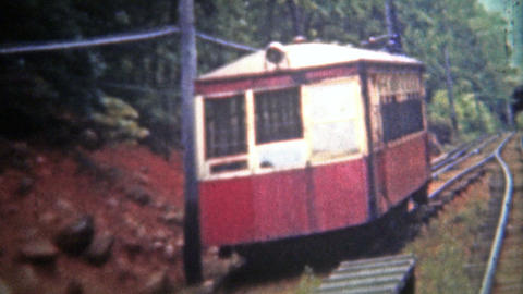 CHATTANOOGA, USA - 1952: Lookout mountain incline railway has changed little sin Footage