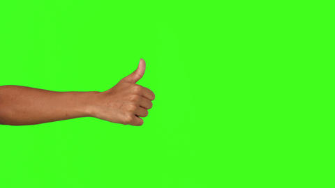 Hand showing thumbs up Live Action