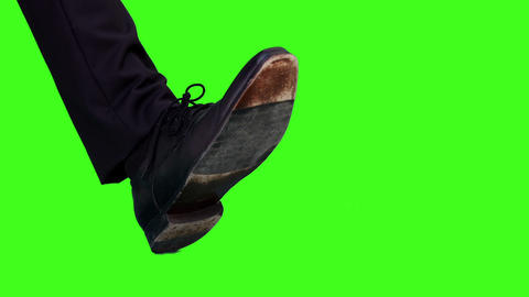 Businessman with his foot out Footage