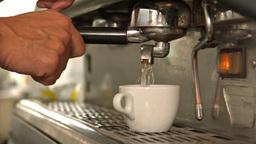 Barista Making A Cup Of Coffee stock footage