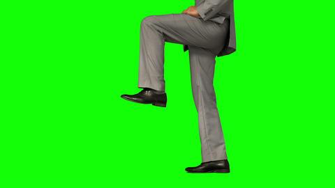 Businessman stepping Footage