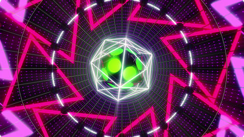 VJ Loops Colorful Cores 1