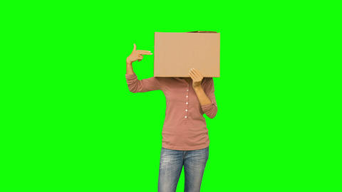 Anonymous Woman Pointing To Head stock footage