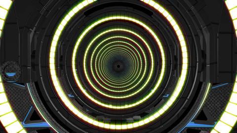 Mechanical tunnel #2 CG動画素材