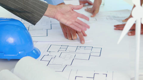 Architect Team Working Together During Meeting stock footage