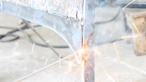 Stick Arc Welding Vertical Position Footage