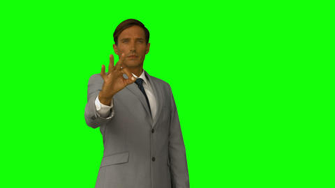 Businessman gesturing something with his finger Footage