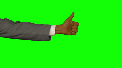 Close Up Of Hand Gesturing Thumbs Up stock footage
