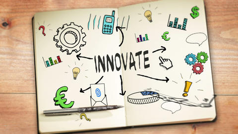 Digital animation of innovate concept Animation