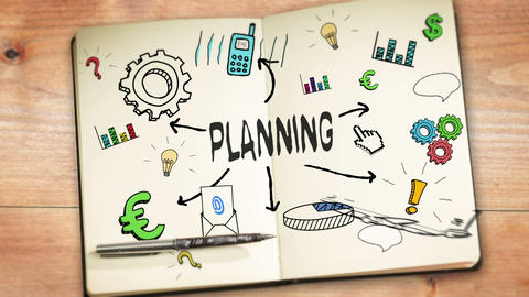 Digital animation of planning concept Animation