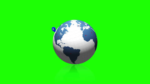 Globe with pointers sticking out of it Animation