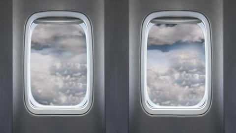 Beautiful Cloud on Sky View From Airplanes Passenger Windows Footage