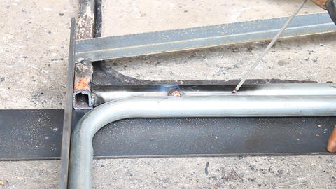 Pipe Electric Arc Welding Horizontal View Live Action