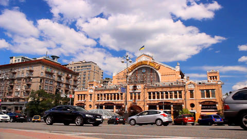 Indoor market in the center of Kyiv, Ukraine Footage