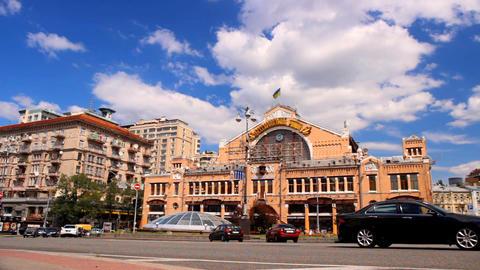 Indoor market in the center of Kyiv, Ukraine Stock Video Footage