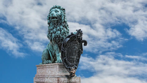 Bavarian emblem Lion Footage