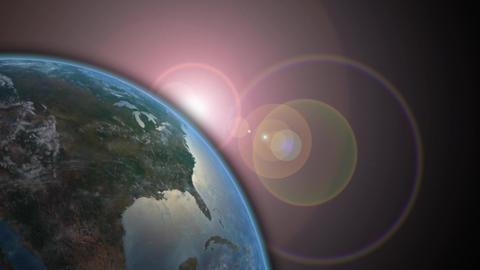 Earth And Shining Flare stock footage