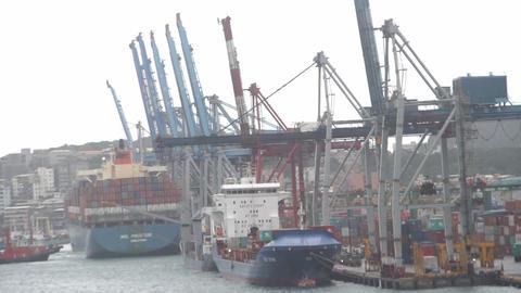 Keelung Harbor.HD stock footage