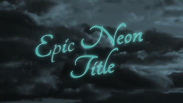 Epic Neon Title - Apple Motion Template
