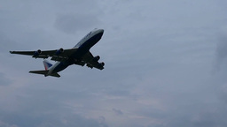Aircraft Is Taking Off From Airport stock footage