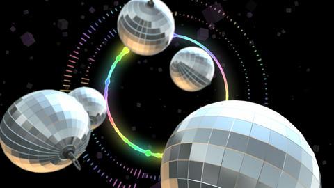 Disco Ball. Discotheque Footage