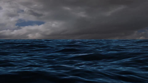 Extreme Cloud and Winds at The Blue Sea Ocean Footage
