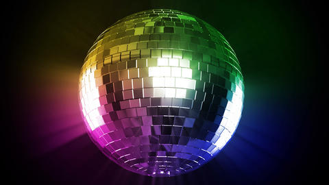 Disco ball and color ray, Stock Animation