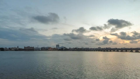 Sunset over Cotonou Footage