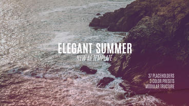 Elegant Summer Slideshow After Effects Template