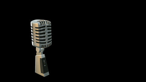 Retro Microphone With Alpha stock footage