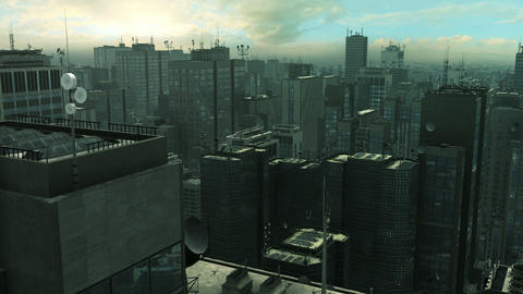 Urban City 01 stock footage