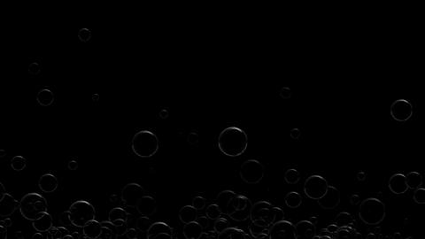 Realistic Bubbles Floating stock footage