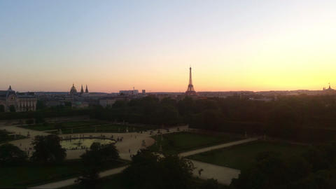 Aerial view on Paris Stock Video Footage