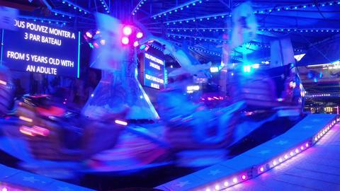 High Speed Carousel stock footage