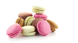 Colorful French Macarons stock footage