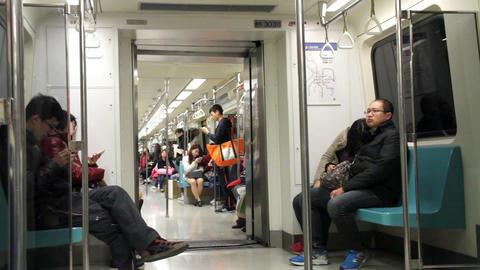 Taipei Metro Carriage.HD Footage