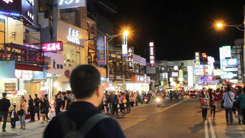 Kenting Night Market. HD stock footage