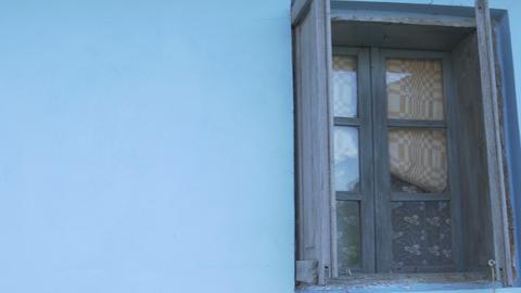 Wood Frame Vintage Window stock footage