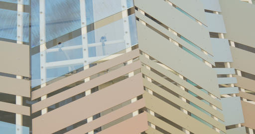 architectural metal glass pattern 01 Footage