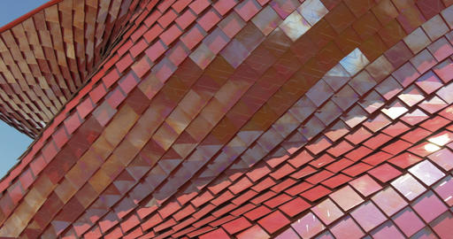 architectural metal red pattern 02 Footage