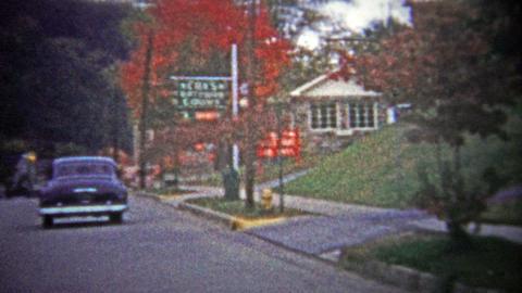 GATLINBURG, USA - 1954: Main Street Tour Of The City Known As The Gateway To The stock footage
