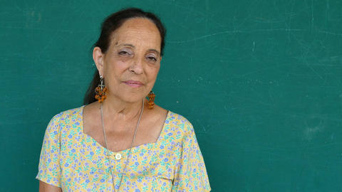 20 Hispanic Old People Portrait Serious Senior Woman Face Expression Footage