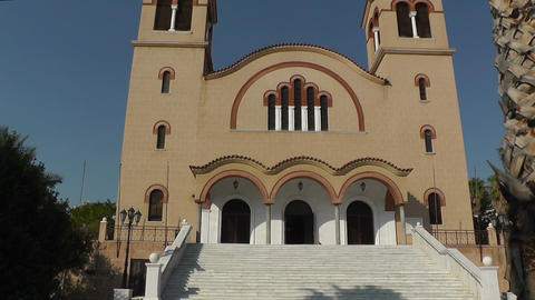 Front Side Of An Orthodox Christian Church stock footage