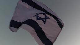 Waving of the Israeli flag Footage
