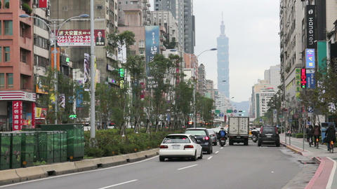 Taipei Street Scene Near the East Gate Trading Area. HD Footage